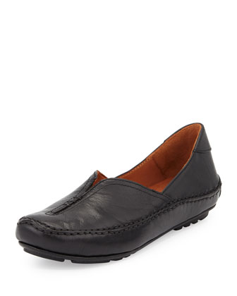 Soleful Casual Leather Slip-On, Black