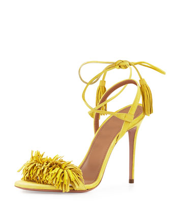 Wild Thing Suede Sandal, Tulip Yellow
