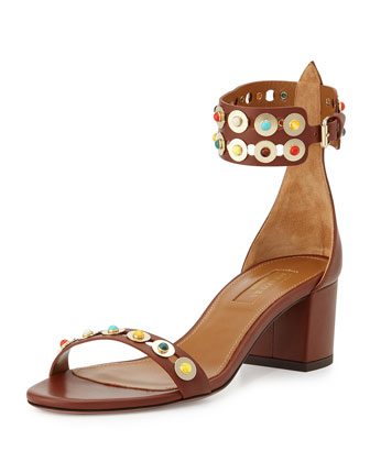 Byzantine Studded City Sandal, Luggage/Multi