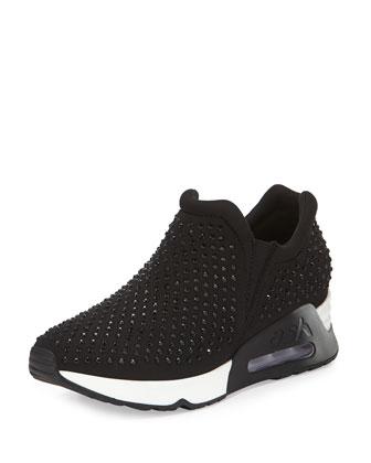 Lunar Studded Slip-On Sneaker, Black
