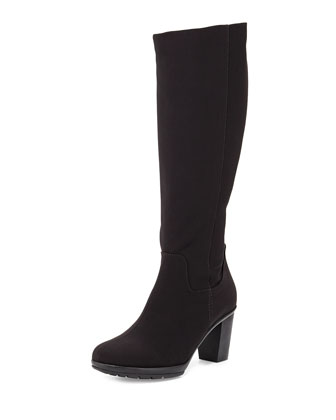 Robena High-Heel Knee Boot, Black