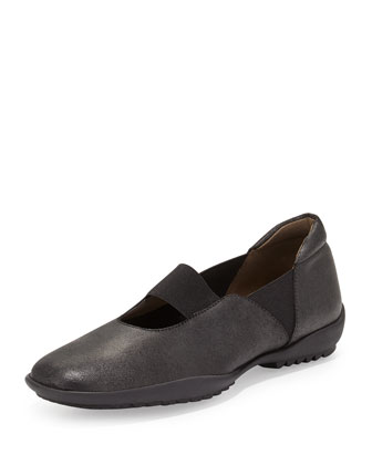 Adrian Casual Leather Flat, Black
