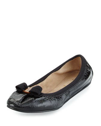 My Joy Patent Bow Flat, Black (Nero)