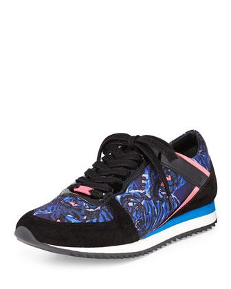 Flying Tiger Trainer Sneaker, Bleu Canard