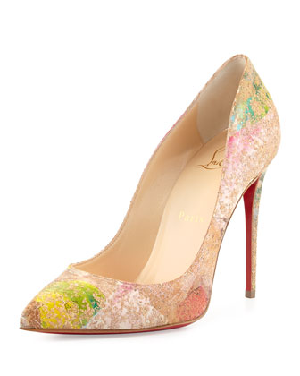 Pigalles Follies Cork Red Sole Pump, Multi