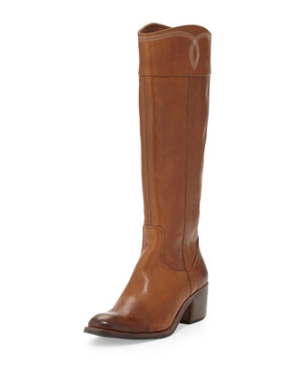 Willi Leather Riding Boot, Chestnut