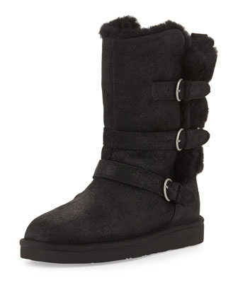 Becket Triple-Buckle Boot