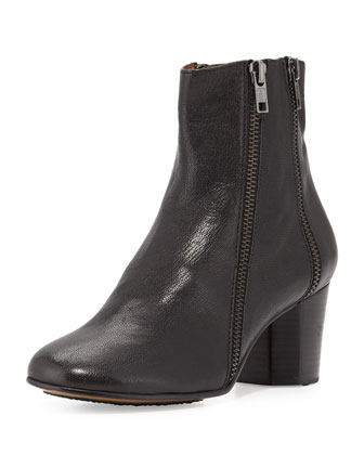 Lexington Leather Ankle Boot, Black