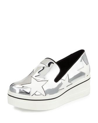 Binx Metallic Star Loafer, Indium/White