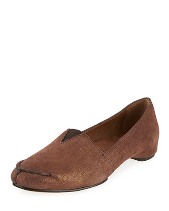 Bamba Metallic Slip-On Loafer, Bronze