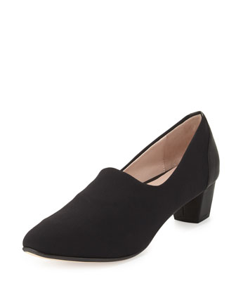 Fiona Low-Heel Comfort Pump, Black