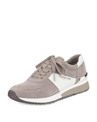 Allie Sport Suede Sneaker, Pearl Gray