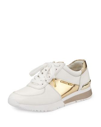 Allie Napa Sport Sneaker, Optic White/Pale Golden