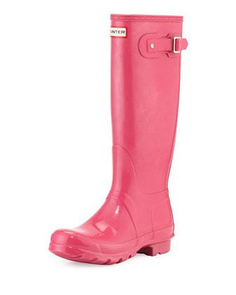 Original Tall Gloss Rain Boot, Bright Cerise
