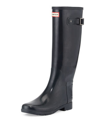Original Refined Gloss Rain Boot, Navy