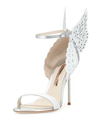 Evangeline Angel Wing Sandal, Perola Snow