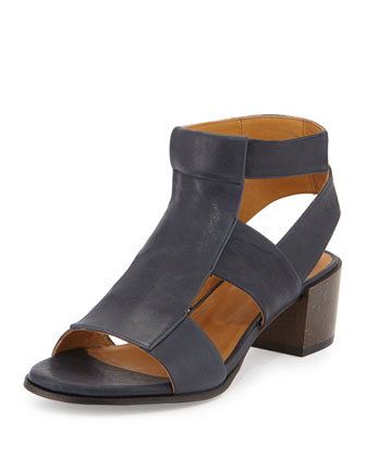 Teasel Leather City Sandal, Country Marino