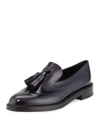 Halsmoor Prorsum Leather Loafer, Ink Blue