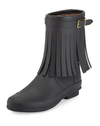Reston Fringe Rain Boot, Black