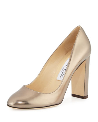 Laria Metallic 100mm Pump, Pyrite
