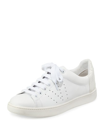 Varin Leather Low-Top Sneaker, Plaster