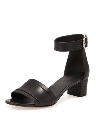 Raine Leather City Sandal, Black