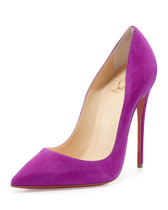 So Kate Suede Red Sole Pump, Purple