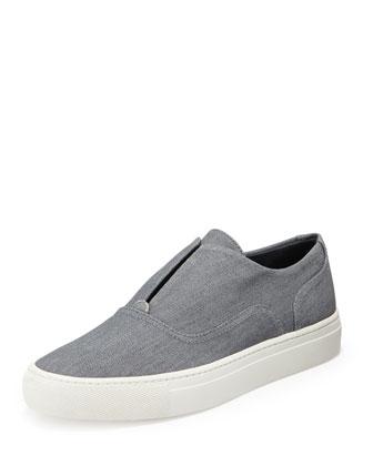 Nelson Denim Slip-On Sneaker, Pale Denim