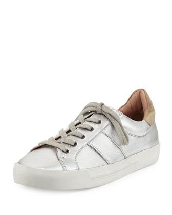 Dakota Metallic Low-Top Sneaker, Silver