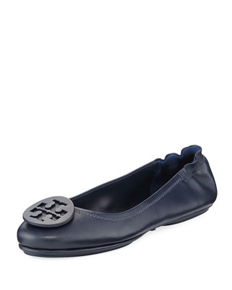 Minnie Travel Logo Ballerina Flat, Tory Navy
