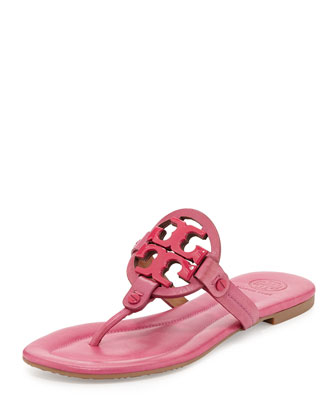 Miller 2 Logo Leather Sandal, Saucy Pink