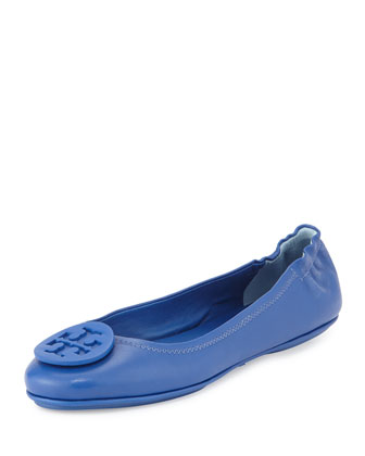 Minnie Travel Logo Ballerina Flat, Jelly Blue
