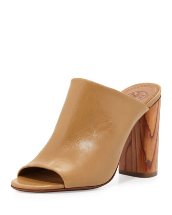 Raya Leather Mule Sandal, Sand