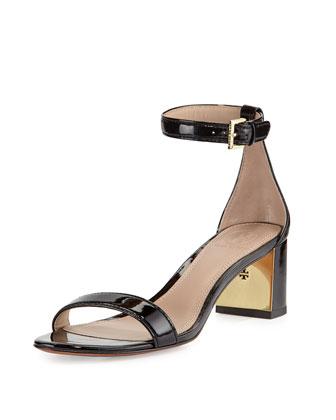 Cecile Patent City Sandal, Black