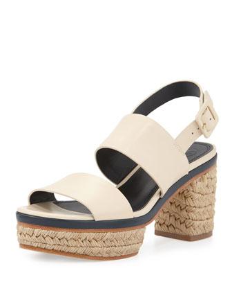 Solana Block-Heel Espadrille Sandal, Dulche de Leche
