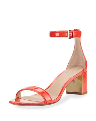 Cecile Patent City Sandal, Pepper Red