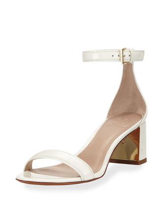 Cecile Patent City Sandal, Ivory