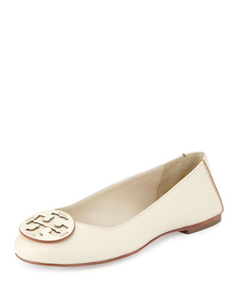 Reva Deconstructed Leather Flat, Dulche de Leche