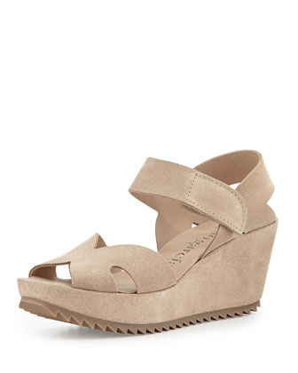 Fairly Suede Wedge Sandal, Sirocco