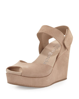 Molly Peep-Toe Wedge Sandal, Sirocco