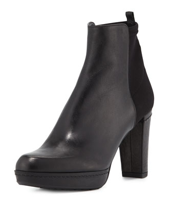 Otherhalf Leather Ankle Boot, Black