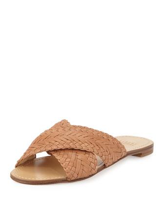 Braidaway Crisscross Sandal Slide, Adobe