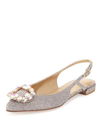 Inherit Jeweled Slingback Ballerina Flat, Multi