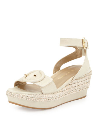 Makeitso Buckle-Strap Wedge Sandal, Pastry
