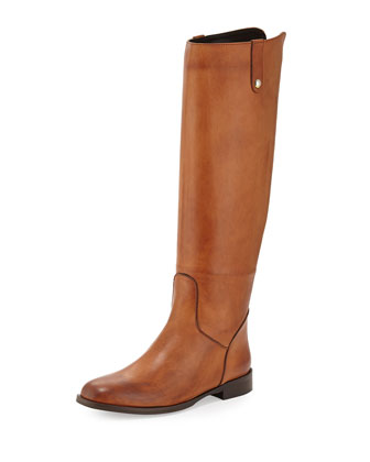 Jola Leather Knee Boot, Cognac