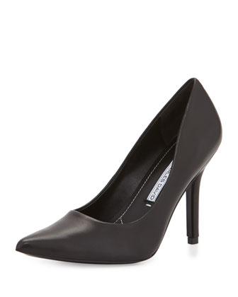 Sway II Leather Pointed-Toe Pump, Black