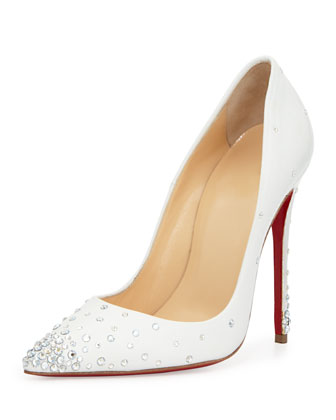 Degrastrass Leather 120mm Red Sole Pump, Moonlight