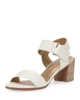 Broadband Leather City Sandal, Vanilla