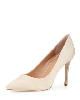 Courtney Suede Pump, Buff
