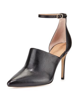 Chloe Leather d'Orsay Pump, Black